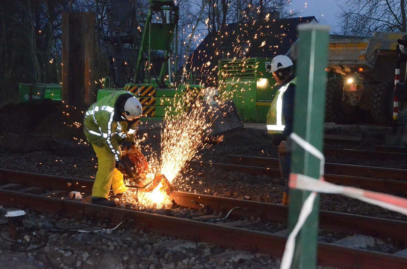 Werkzaamheden aan rails