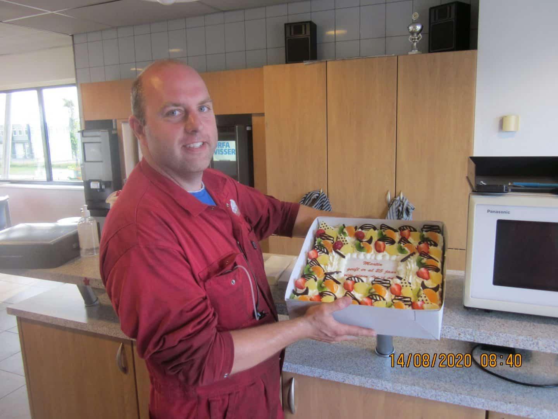 Martin Huurneman met taart