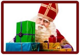 Sinterklaas met pakjes